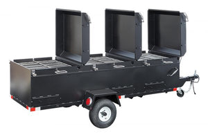 Meadow Creek BBQ144 Commercial Chicken Cooker Trailer (4 Pit) - Smoker Guru