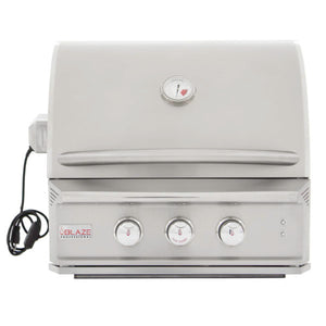 Blaze Professional 27-Inch 2-Burner Built-In Natural Gas Grill With Rear Infrared Burner - BLZ-2PRO-NG/LP