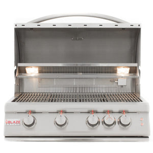 Blaze 32 Inch 4 Burner LTE Gas Grill With Rear Burner and Built-in Lighting System - BLZ-4LTE2-NG/LP - Smoker Guru