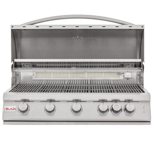 Blaze 40 Inch 5-Burner LTE Gas Grill with Rear Burner and Built-in Lighting System - BLZ-5LTE2-NG/LP