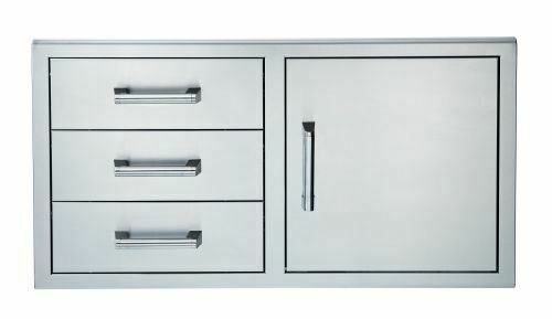 Broilmaster 42-Inch Single Door with Triple Drawer for BSG424N Gas Grill - BSAW4222ST