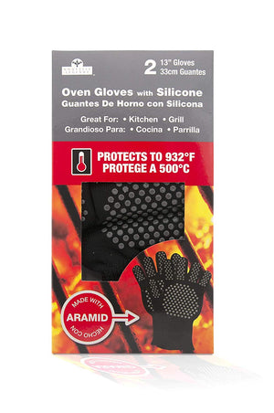 Extreme Heat Flame and Cut Resistant Aramid Flexible Hot Gloves 2 Pack - Smoker Guru