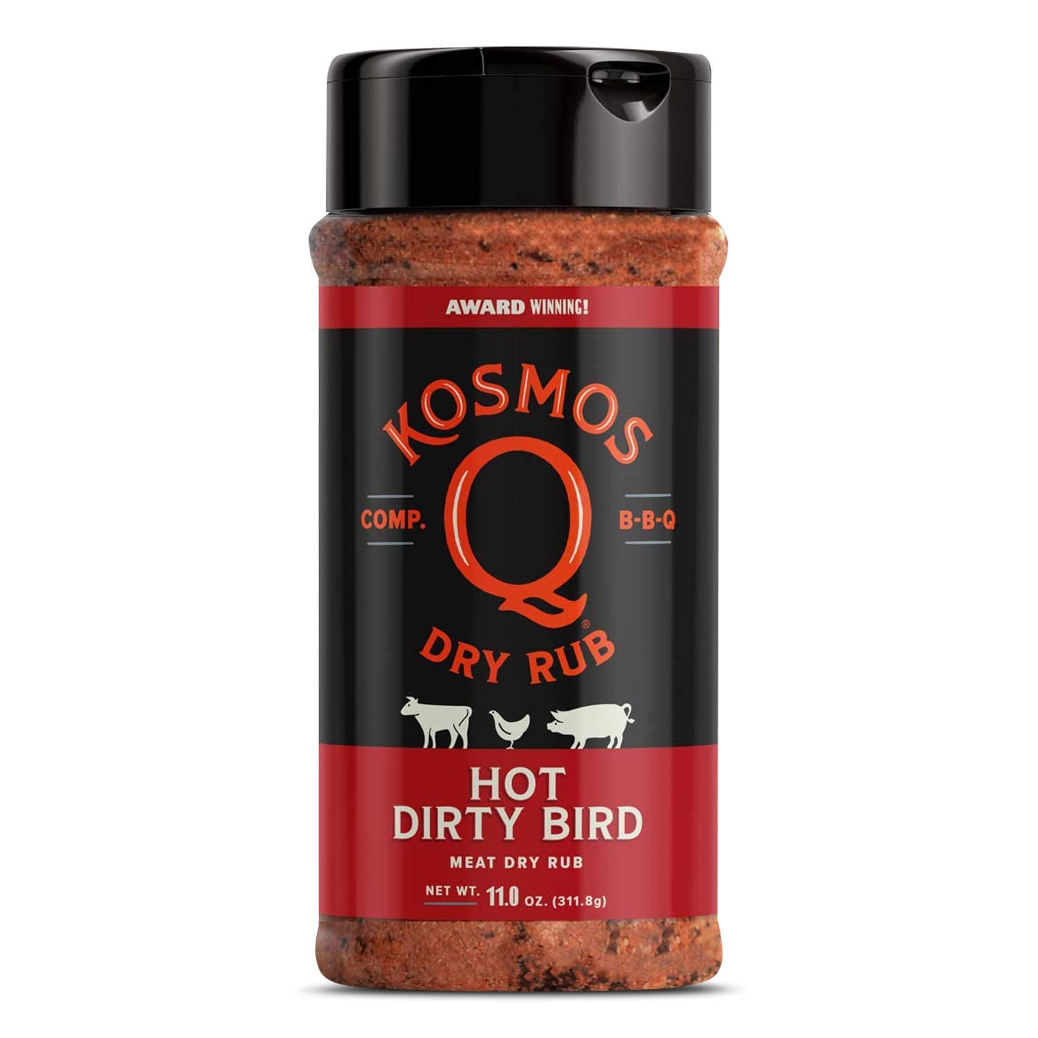 Kosmo's Q Dirty Bird Hot Rub (11oz)