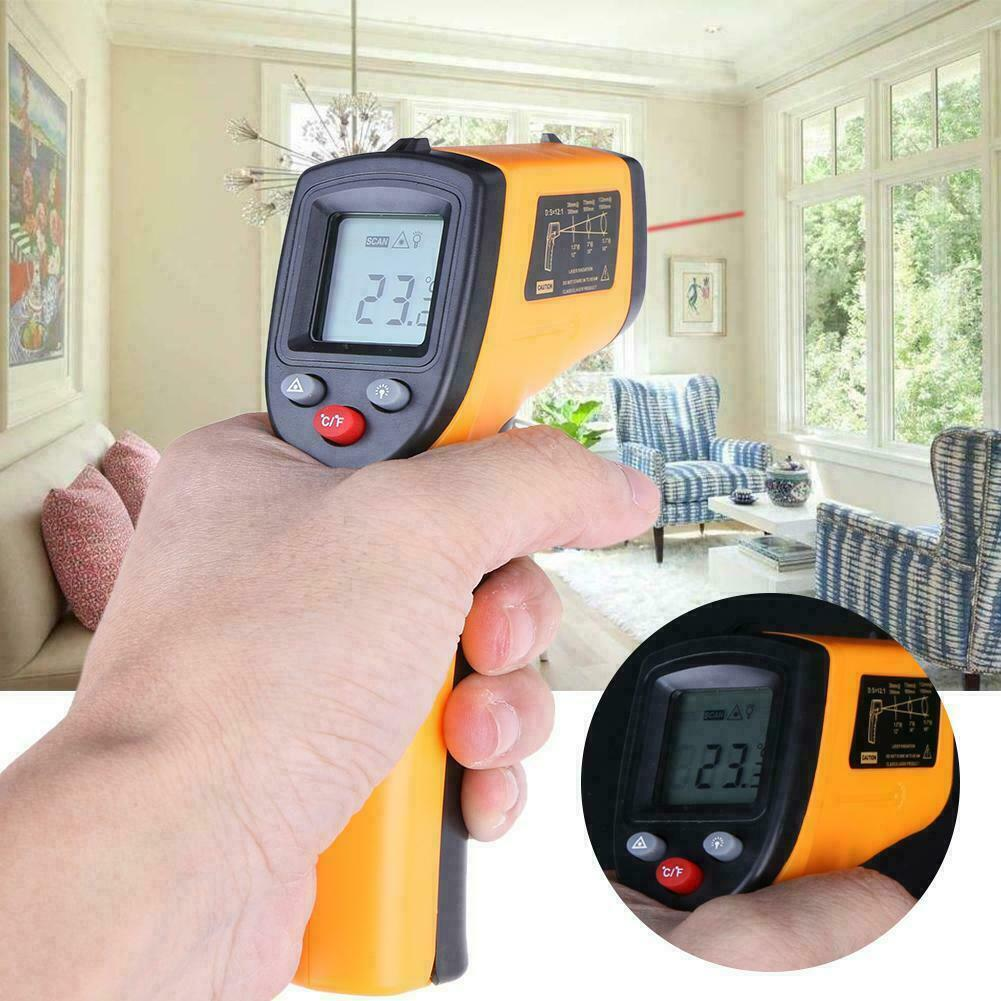 Infrared Thermometer Temperature Gun Non-contact Digital LCD IR Laser Temp Meter