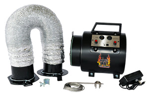 Perfect Draft BBQ Blower 2.0 System & Flex Hose (For Large Smokers)