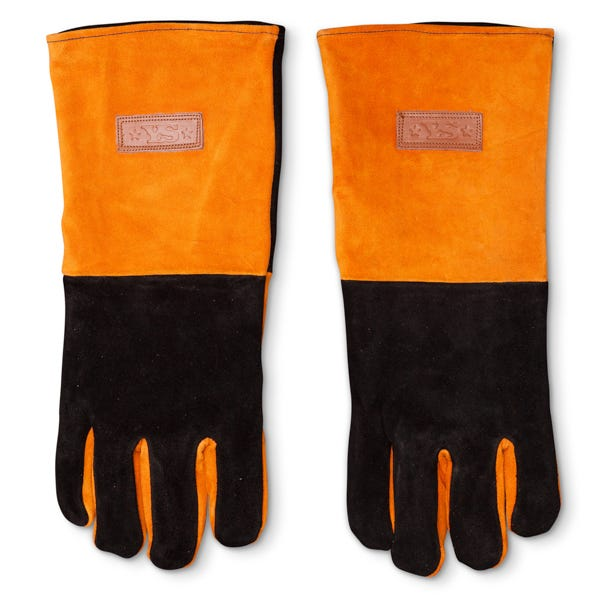 Yoder Smokers Long Leather BBQ Gloves