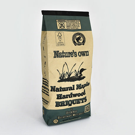 Nature's Own Natural Maple Hardwood Briquets - 19lbs