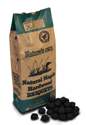 Nature's Own Natural Maple Hardwood Briquets - 19lbs - Smoker Guru