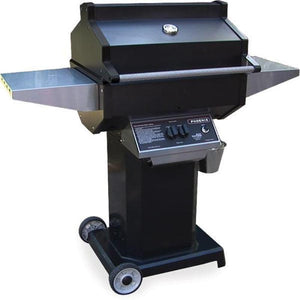 Phoenix Grill Black Grill Head On Black Pedestal 2 Wheel Portable Base - PFMGBOCP/PFMGBOCN