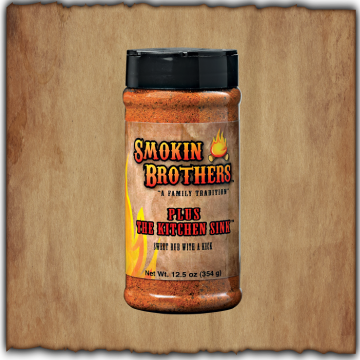 Smokin Brothers Plus The Kitchen Sink Sweet Rub With A Kick (12.5 oz)
