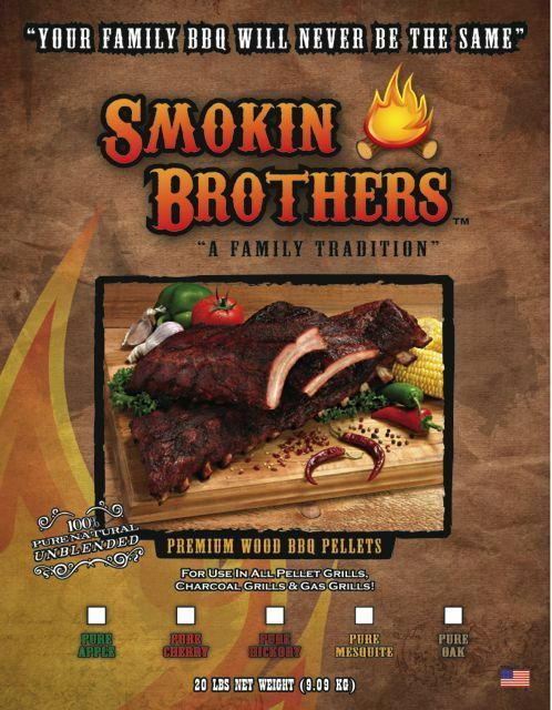 Smokin Brothers Pure Apple Hickory Pellets - 20lb Bag