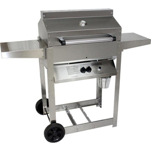 Phoenix Grill Stainless Steel Grill Head on Stainless Steel 4 Leg Cart - SDRIV4LDDP/SDRIV4LDDN
