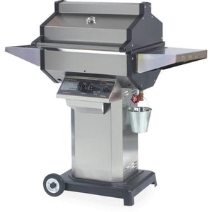 Phoenix Grill Stainless Steel Grill Head On Stainless Steel Pedestal 2 Wheel Portable Base - SDSSOCP/SDSSOCN