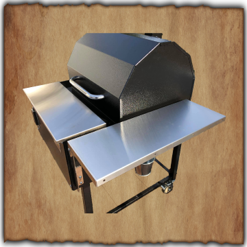 Smokin Brothers Stainless Steel Side Shelf for Premier & Premier Plus Grills