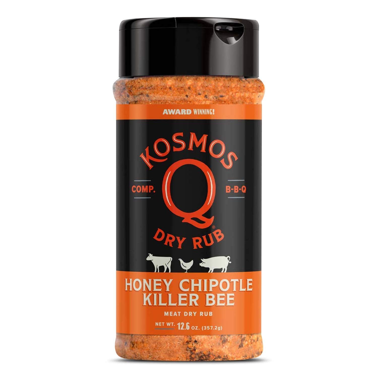 Kosmo's Q Spicy Killer Bee Chipotle Honey Rub (12.6oz)