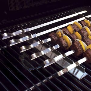 "Steven Raichlen Best of Barbecue Kabob Rack with Six 17"" Stainless Steel Skewers - SR8816"