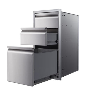 Memphis Grills 15-Inch Triple Access Drawer With Soft Close - VGC15DB3 - Smoker Guru