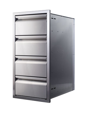 Memphis Grills 15-Inch Quadruple Access Drawer With Soft Close - VGC15DB4
