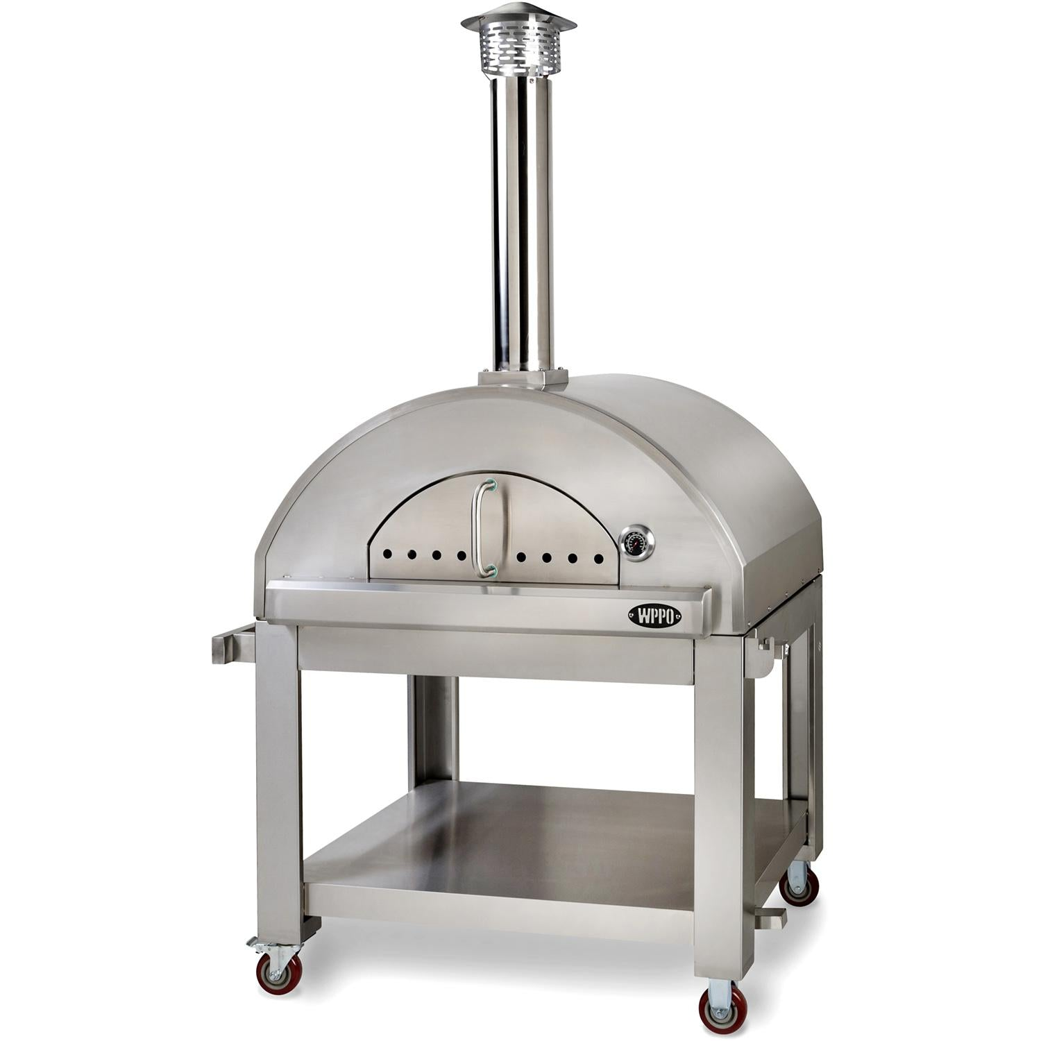 WPPO Pro 3 42-Inch Outdoor Wood-Fired Pizza Oven On Cart - WPPO3 + WPPO3STND - Smoker Guru
