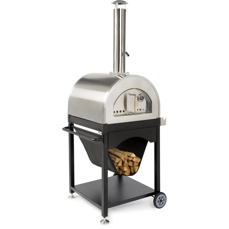 WPPO Pro 4 25-Inch Outdoor Wood-Fired Pizza Oven On Cart - WPPO4 + WPPO4STND - Smoker Guru