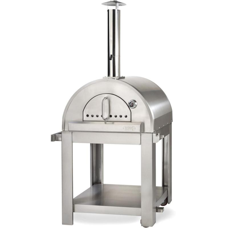 WPPO Pro 5 32-Inch Outdoor Wood-Fired Pizza Oven On Cart - WPPO5 + WPPO5STND - Smoker Guru