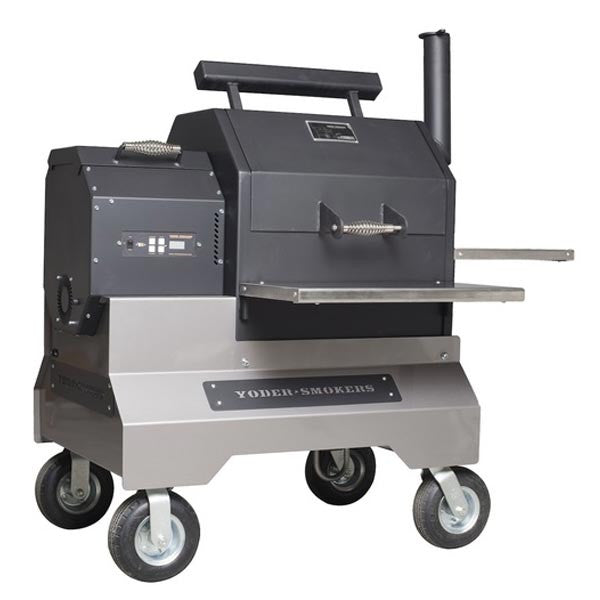 Yoder Smokers Ys480 Competition Cart Stainless Front