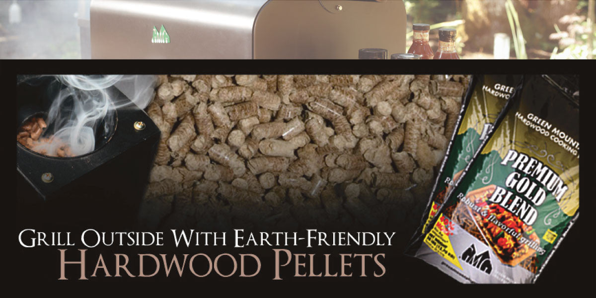 Grill outside with earth friendly hardwood pellets