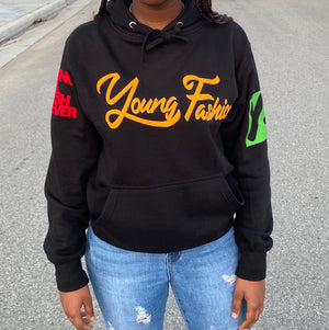 "YOUNG FASHION ""BLACK HISTORY MONTH"" UNISEX HOODIE"