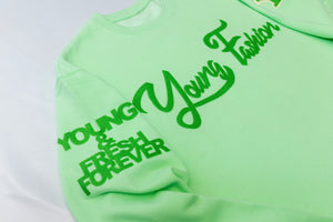 "Young Fashion 16 ""Neo Mint Classic Spring"" Crew Neck"