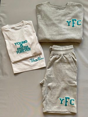 Young Fashion Summer Grey Shorts Set