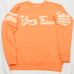 Young Fashion 16 Cantaloupe Classic Spring Crew
