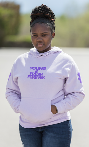 Young Fashion 16 Grape Spring Young & Fresh Hoodie