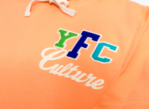 Young Fashion 16 Cantaloupe YFC Culture  Spring Hoodie