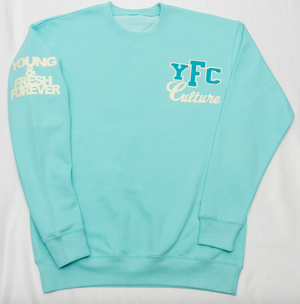 "YOUNG FASHION 16 ""PURIST BLUE YFC CULTURE CREW NECK"