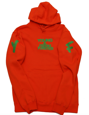 "Young Fashion 16 Orange ""Young & Fresh"" Spring Hoodie"