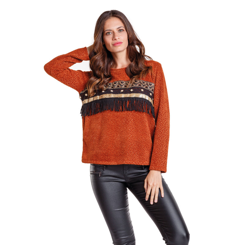 Sweater Trieste Terracota