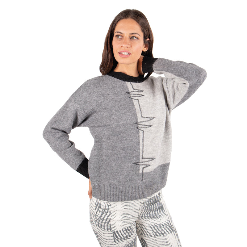 Sweater Troya Grafito Gris