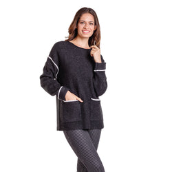 Sweater Argos Negro Blanco