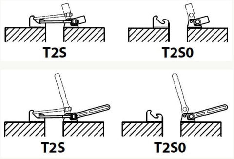 Rotational Latch Toggle Clamp Form T2S