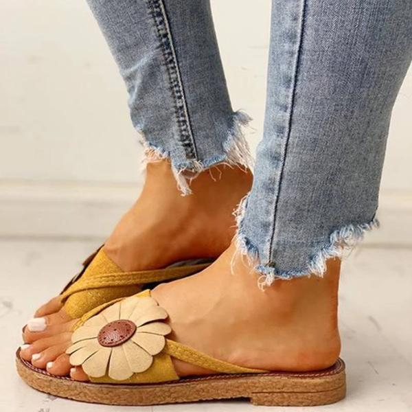 Mascori Casual Fashion Summer Flower Sandals