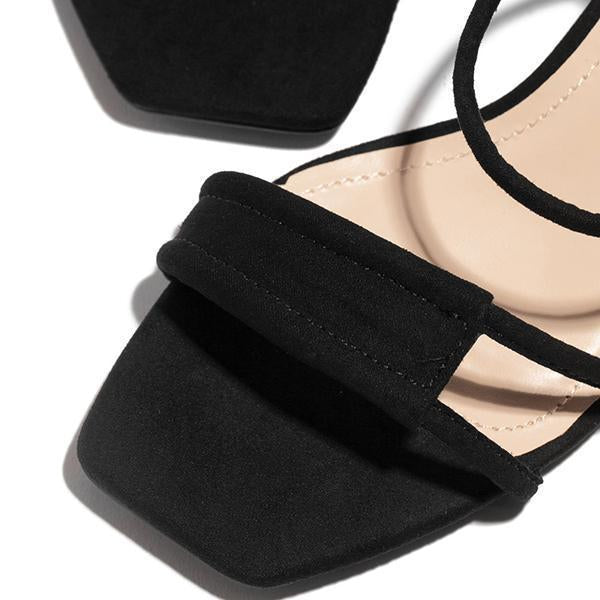 Mascori Fashion Square Toe Heels Sandals