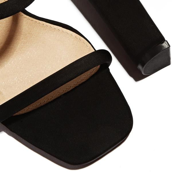 Mascori Summer High Heel Strap Sandals