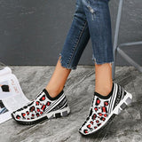 Mascori Trendy Casual Wild Leopard Slip On Sneakers