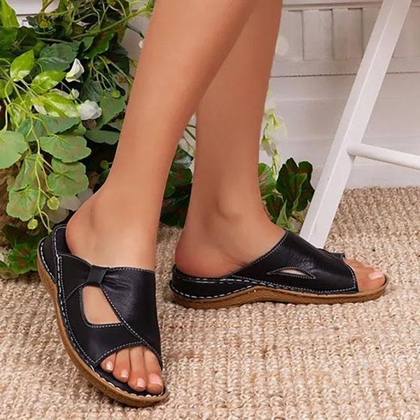 Mascori Women Casual Summer Daily Comfy Slip On Sandals