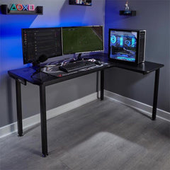 x rocker panther corner gaming desk