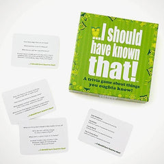 I should have known that! trivia card game
