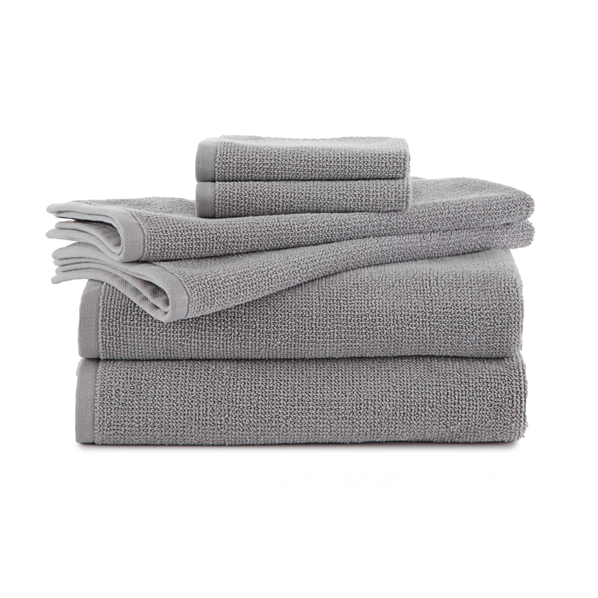 EcoPure Serene 6 Piece Organic Cotton Bath Towel Set