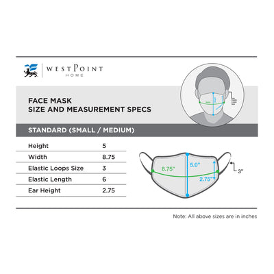 Lady Pepperell® Triple Layer Face Mask with SILVERbac™ Antimicrobial Technology