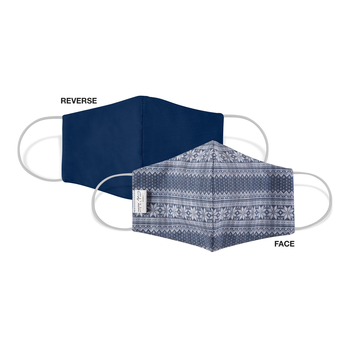 Martex Health Cozy Cabin Reversible Triple Layer Face Masks with SILVERbac Antimicrobial Technology