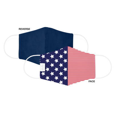Martex Health Star Spangled Reversible Triple Layer Face Masks with SILVERbac™ Antimicrobial Technology - 3 Pack